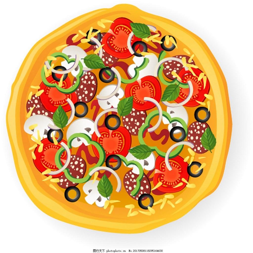 美味蔬菜披萨背景图 背景素材 广告 素材免费下载 圆形 食物