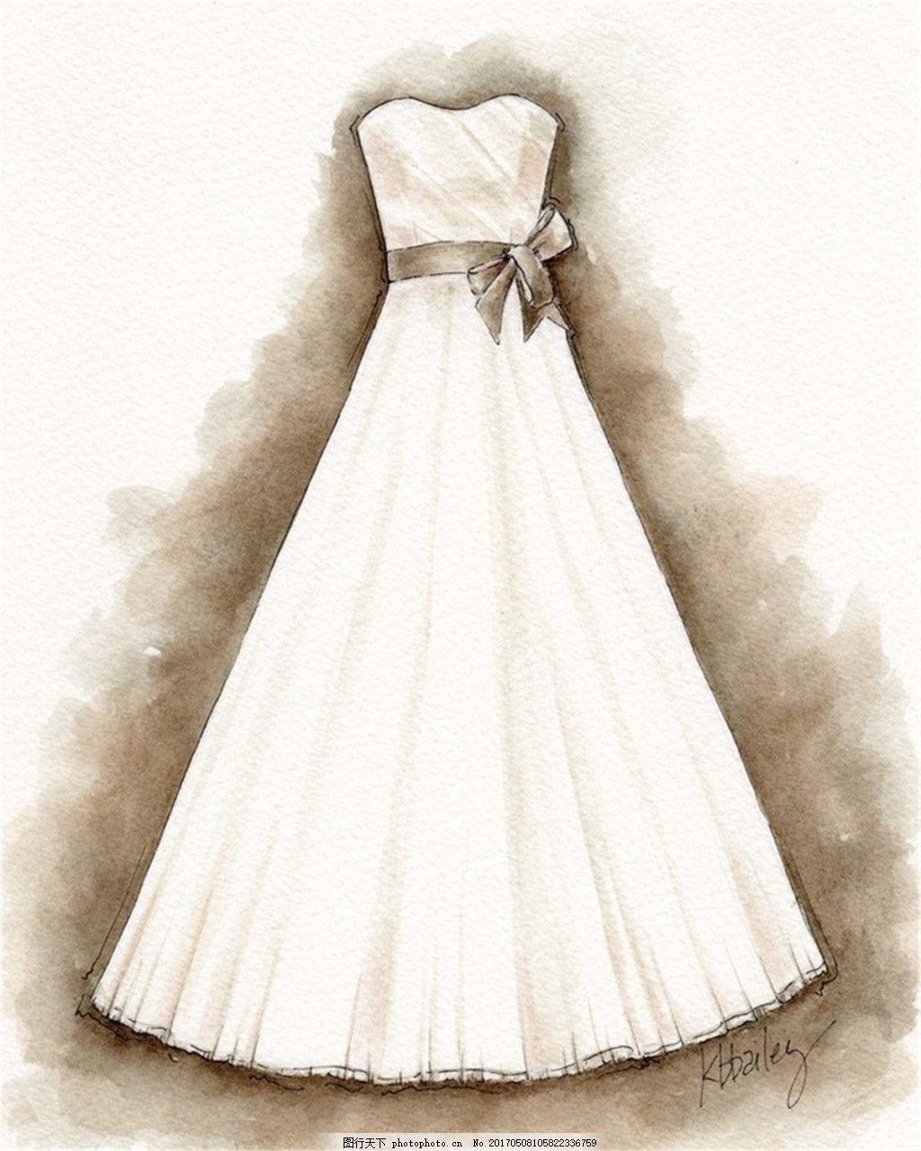 简约抹胸礼服设计图 时尚女装 职业女装 女装设计效果图 短裙 服装