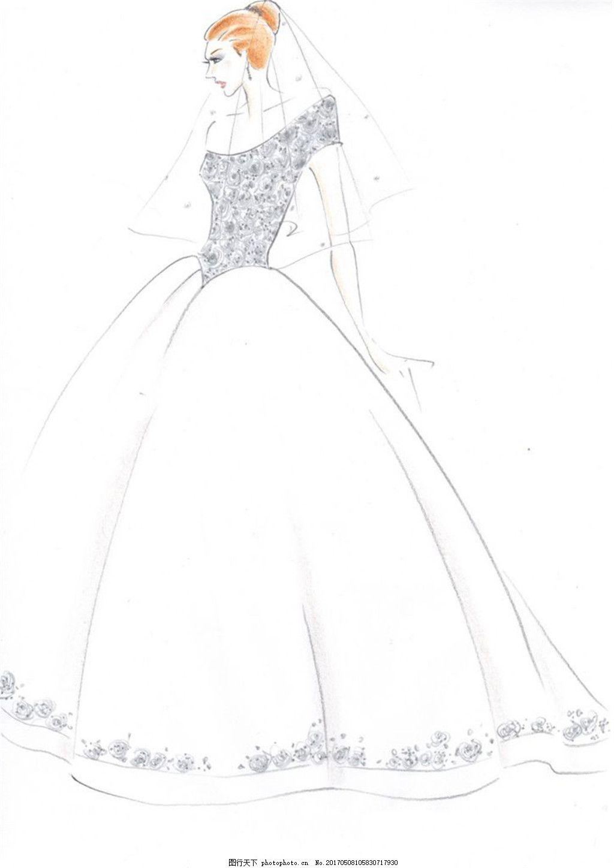 花边深v婚纱设计图