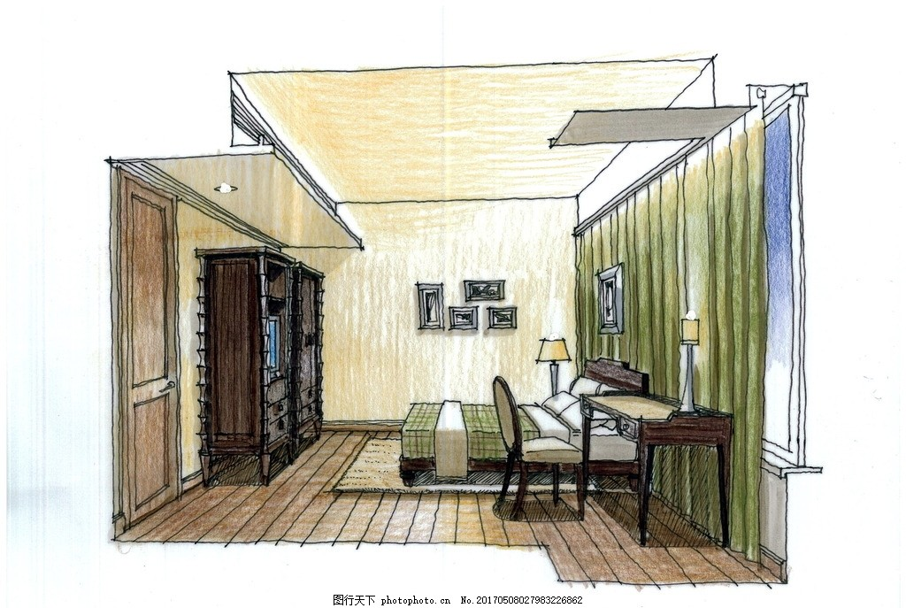 室内设计高清手绘图,装饰设计 装修设计 室内设计手绘