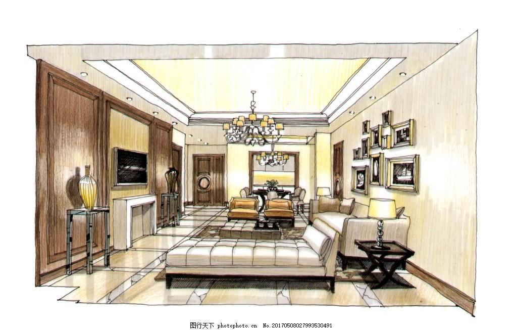室内设计高清手绘图 装饰 装修设计 室内设计手绘图
