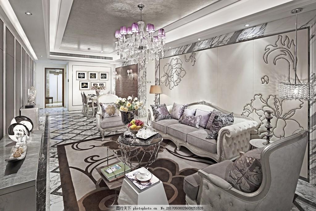 现代欧式客厅装修效果图图片