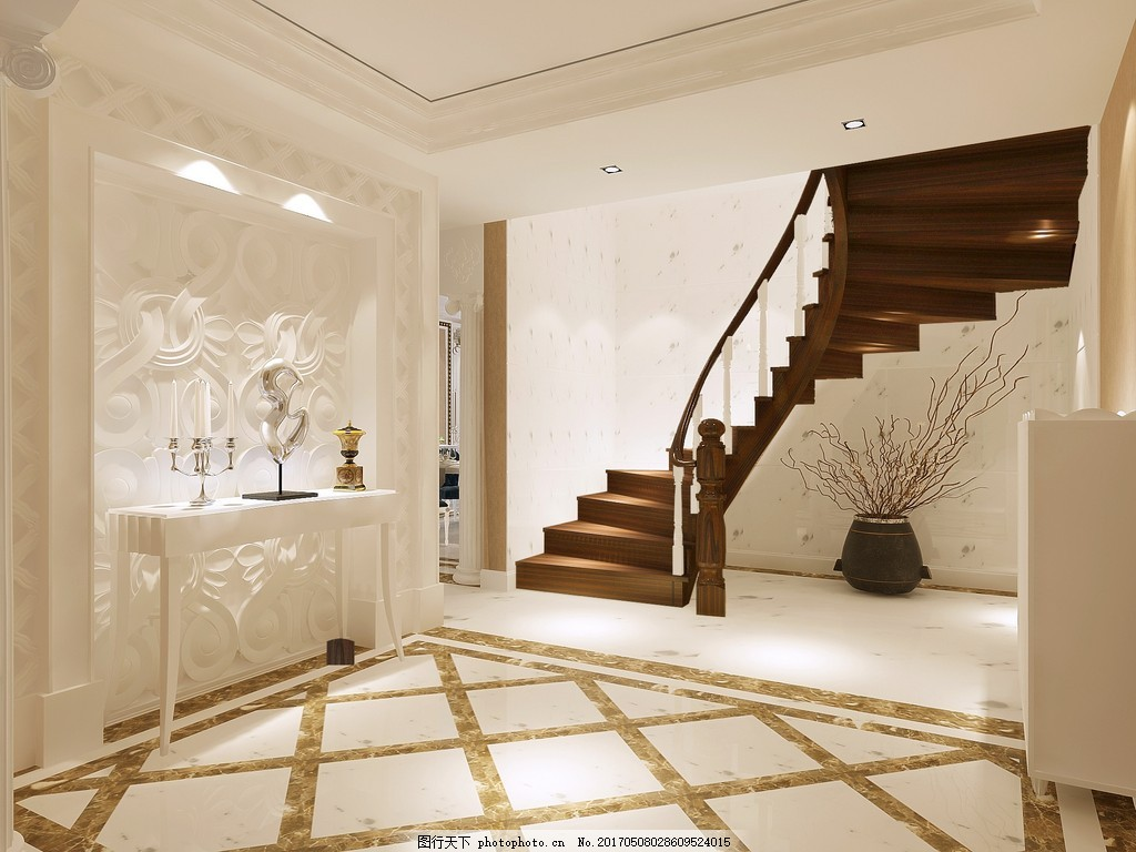 欧式室内楼梯设计图