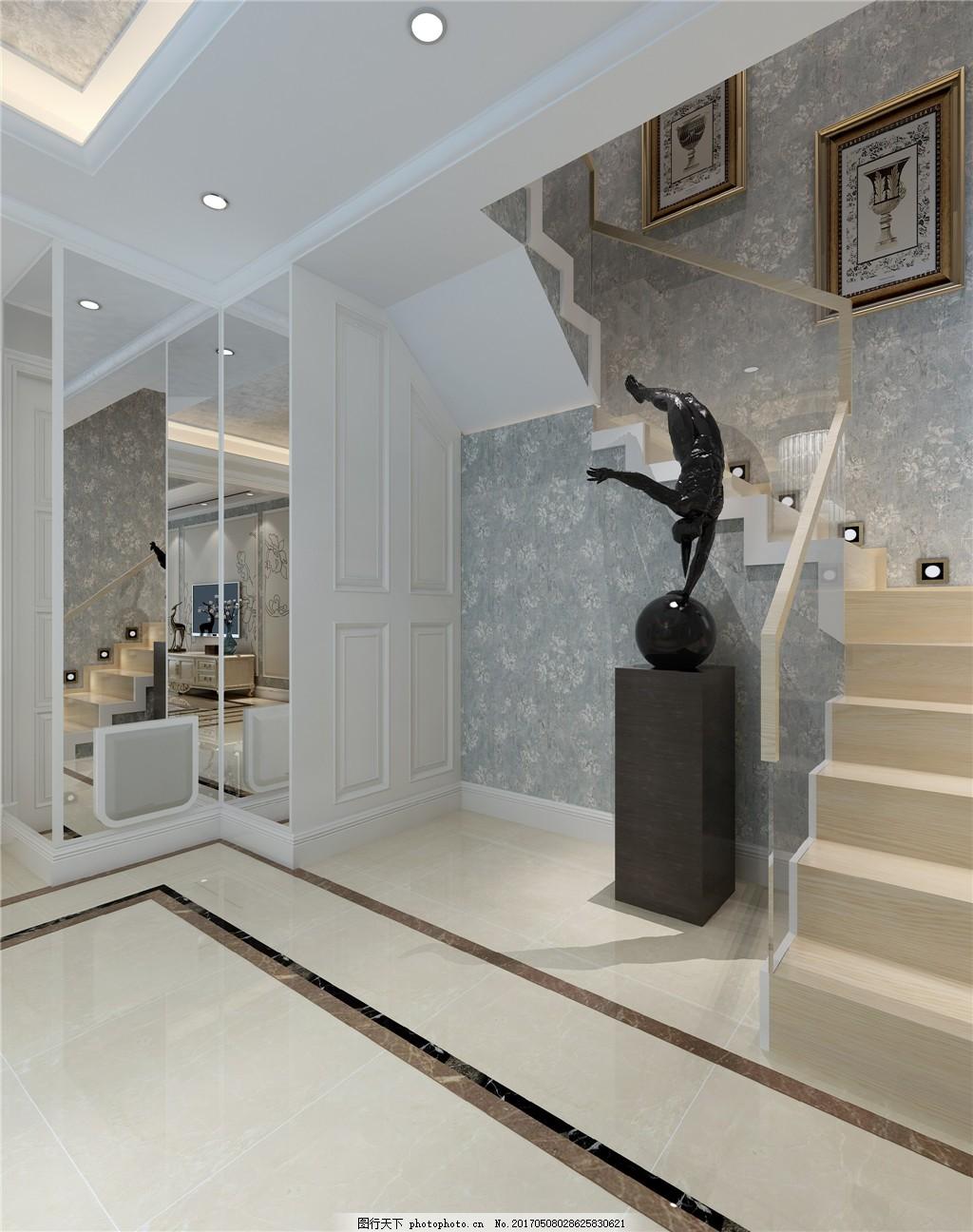 欧式别墅简装效果图 室内设计 家装效果图 欧式装修效果图 时尚 奢华