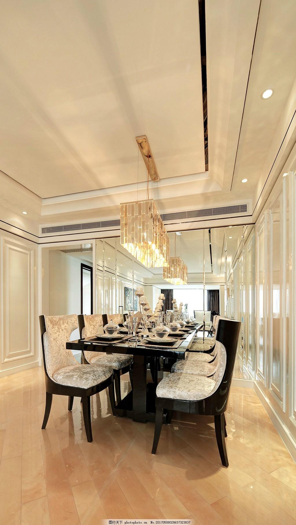 豪华餐厅餐桌设计图 家居 家居生活 室内设计 装修 室内 家具 装修