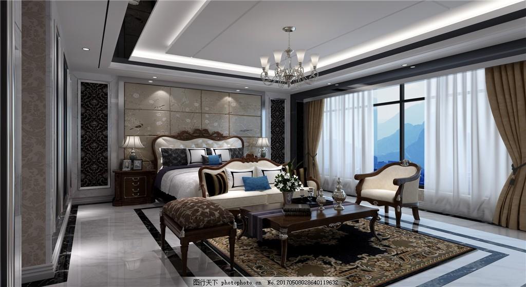 欧式别墅大卧室装修效果图