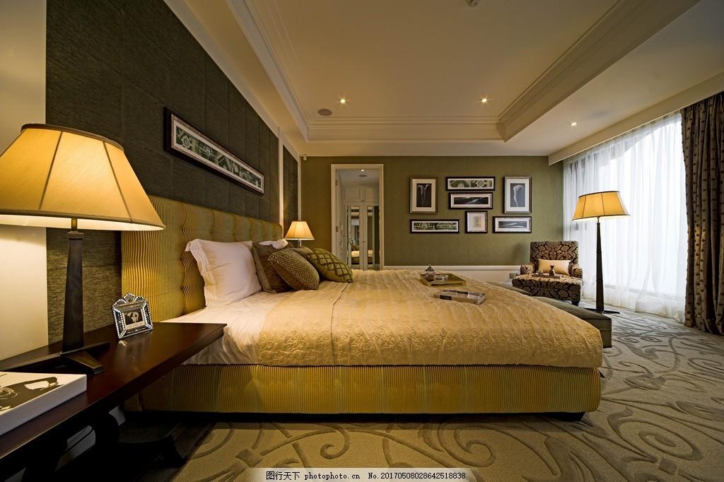 美式别墅卧室装修效果图图片