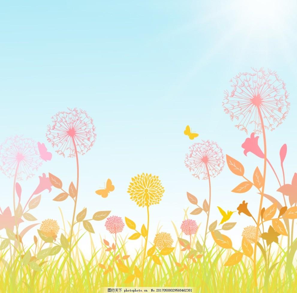 蒲公英 浪漫 温馨 鲜花 花朵 立体 手绘 电视背景墙 圆圈黑白