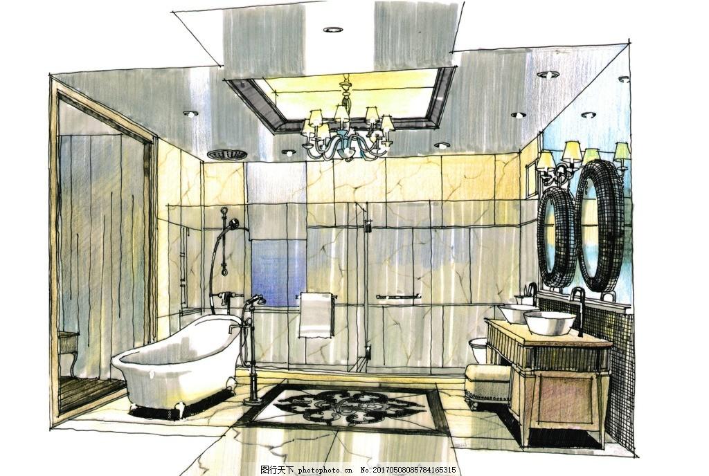 室内设计高清手绘图 装饰 装修设计 室内设计手绘图 环境设计