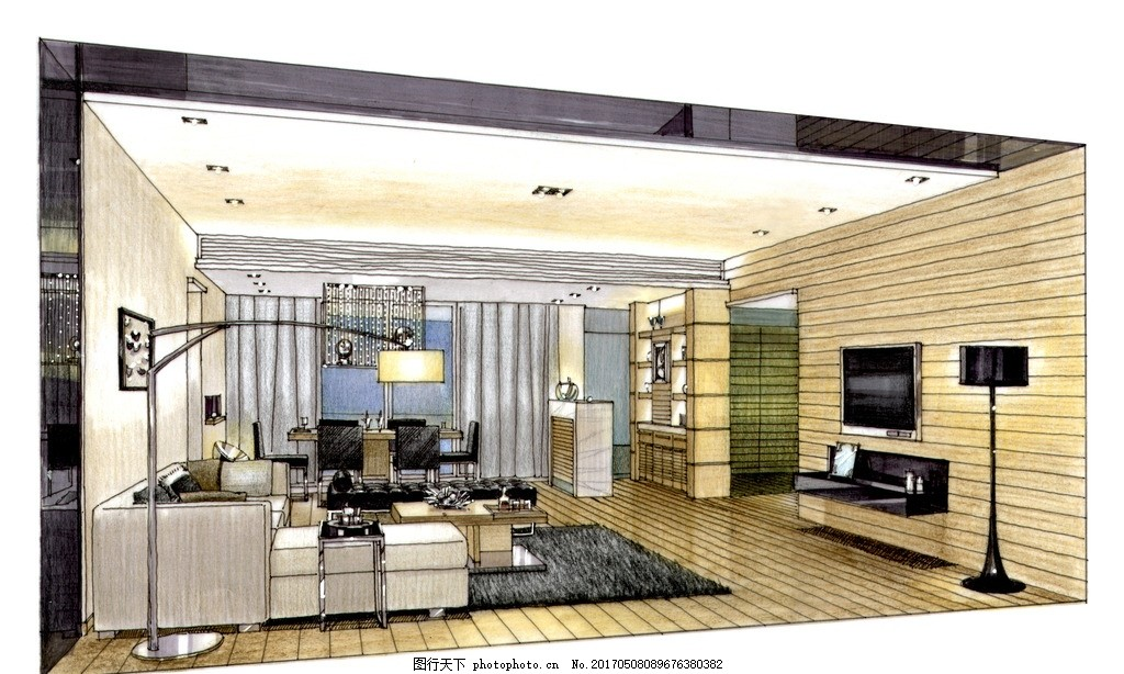 室内设计高清手绘图 装饰设计 装修设计 高清图 室内设计手绘图