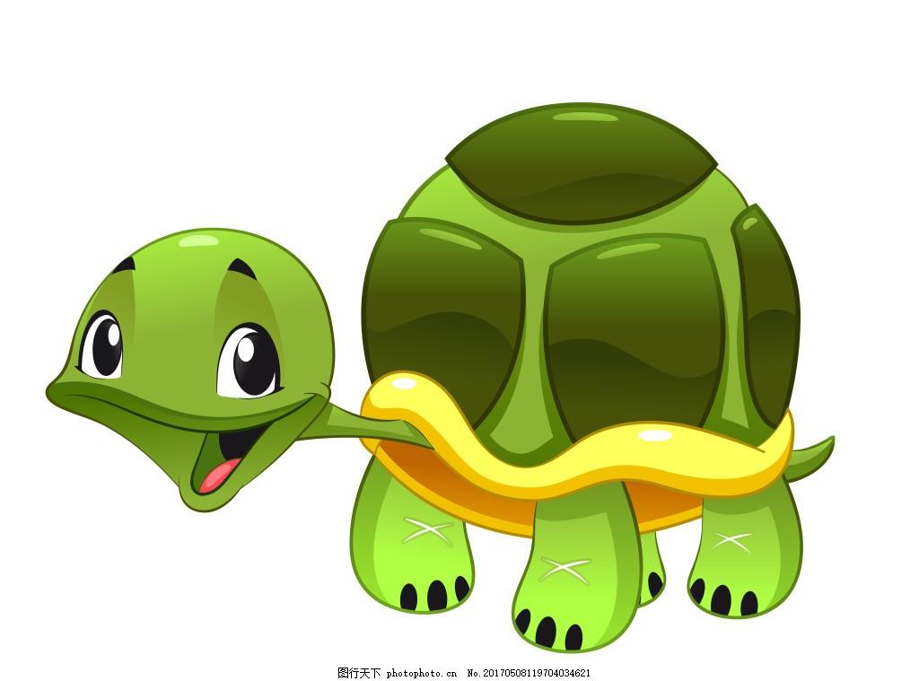 矢量海底动物乌龟eps