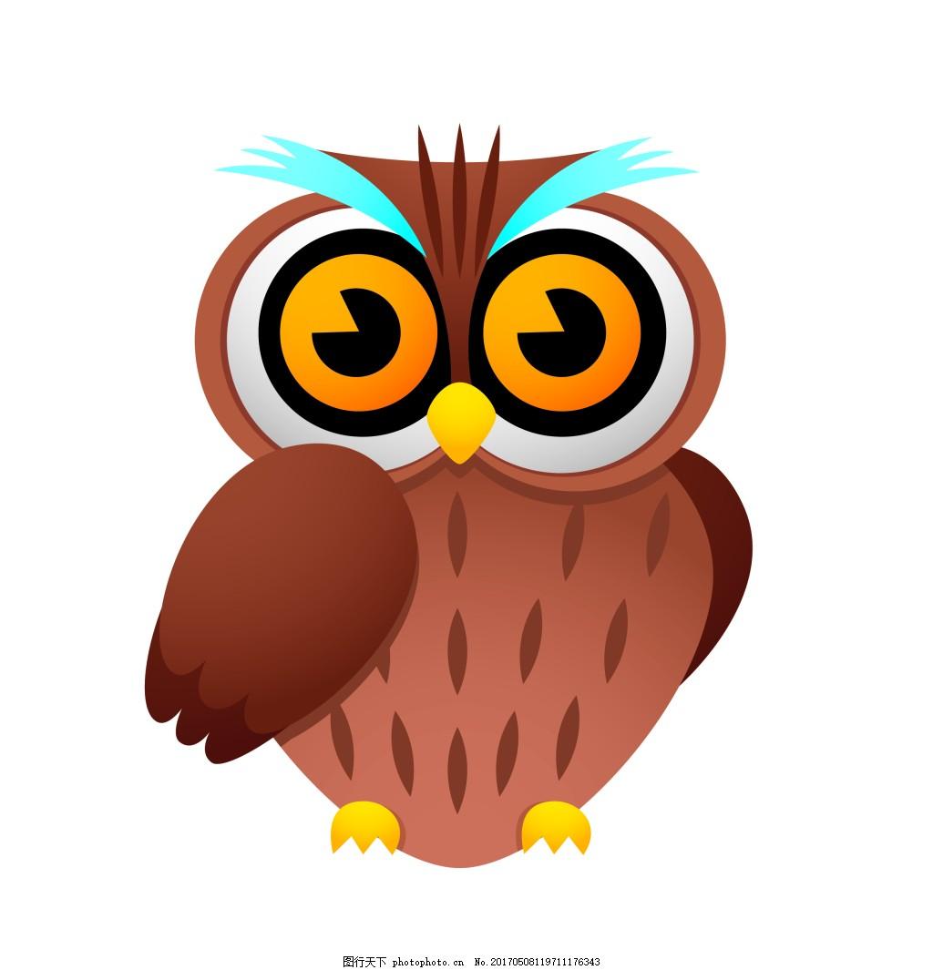 卡通猫头鹰eps 矢量动物素材模板矢量动物素材图片下载 卡通动物图片