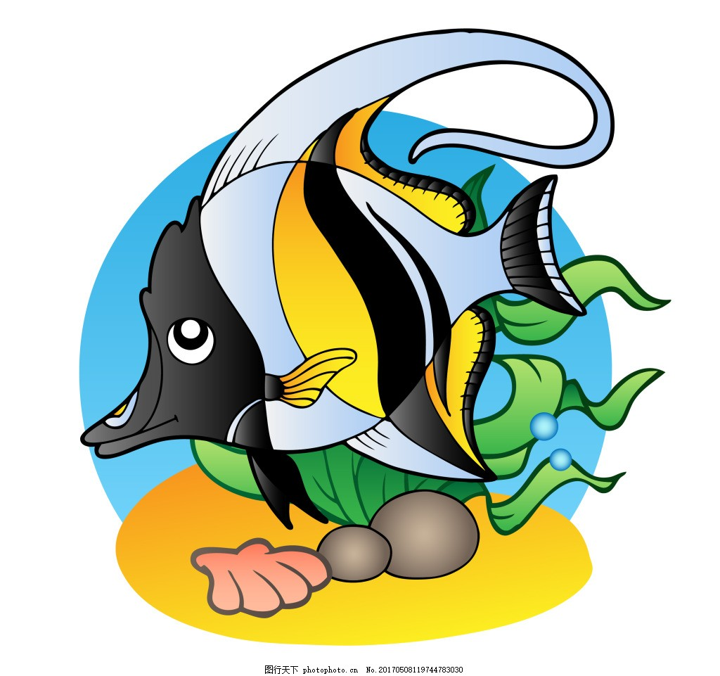 矢量海洋海底动物eps