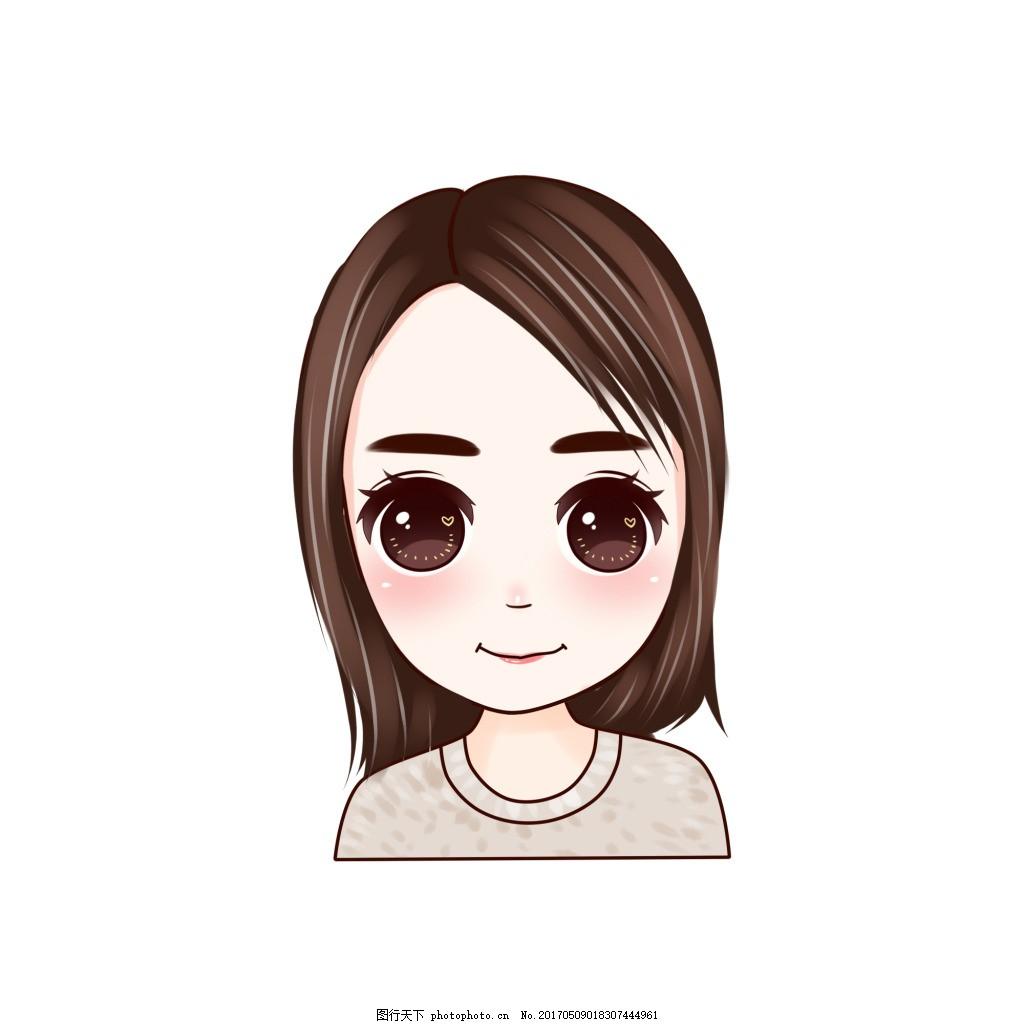 卡通美女 女孩 大眼睛 卡通人头像