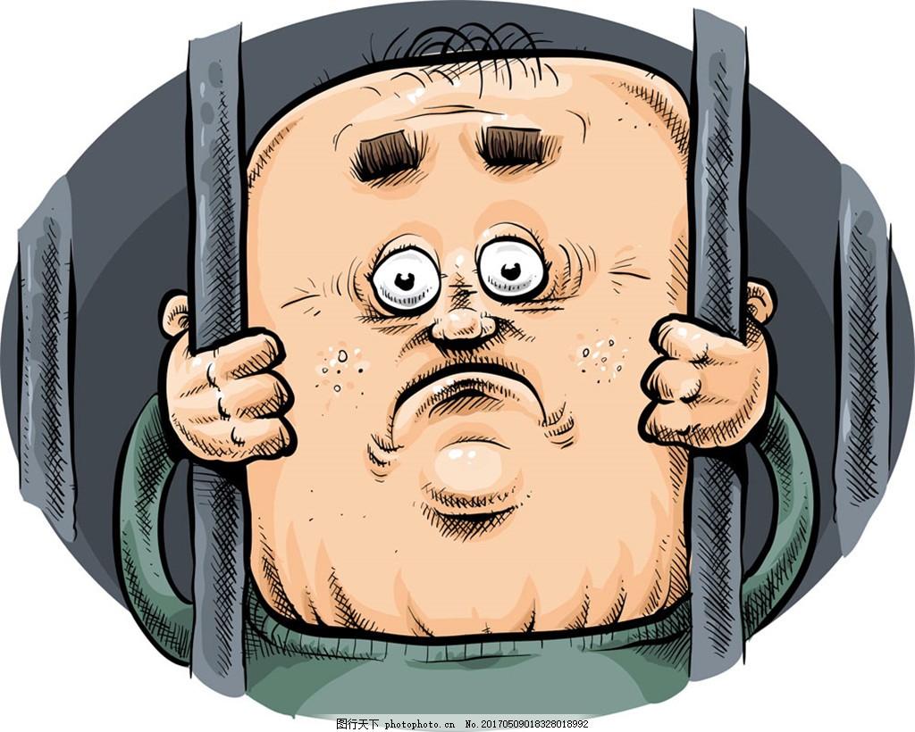 坐牢鼻子通漫画男人图片的卡手绘图片
