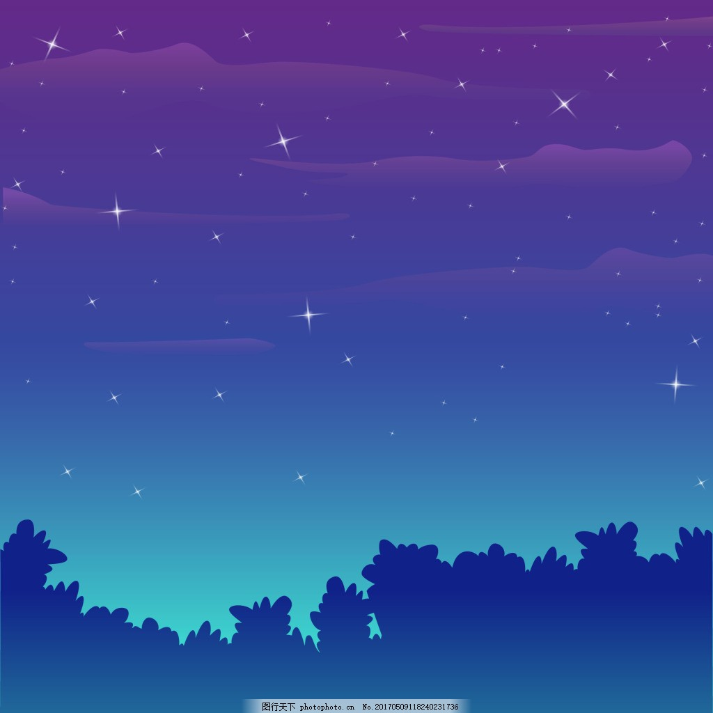 星星 高光 云朵 叶子 蓝色广告 背景素材 海报背景素材图片