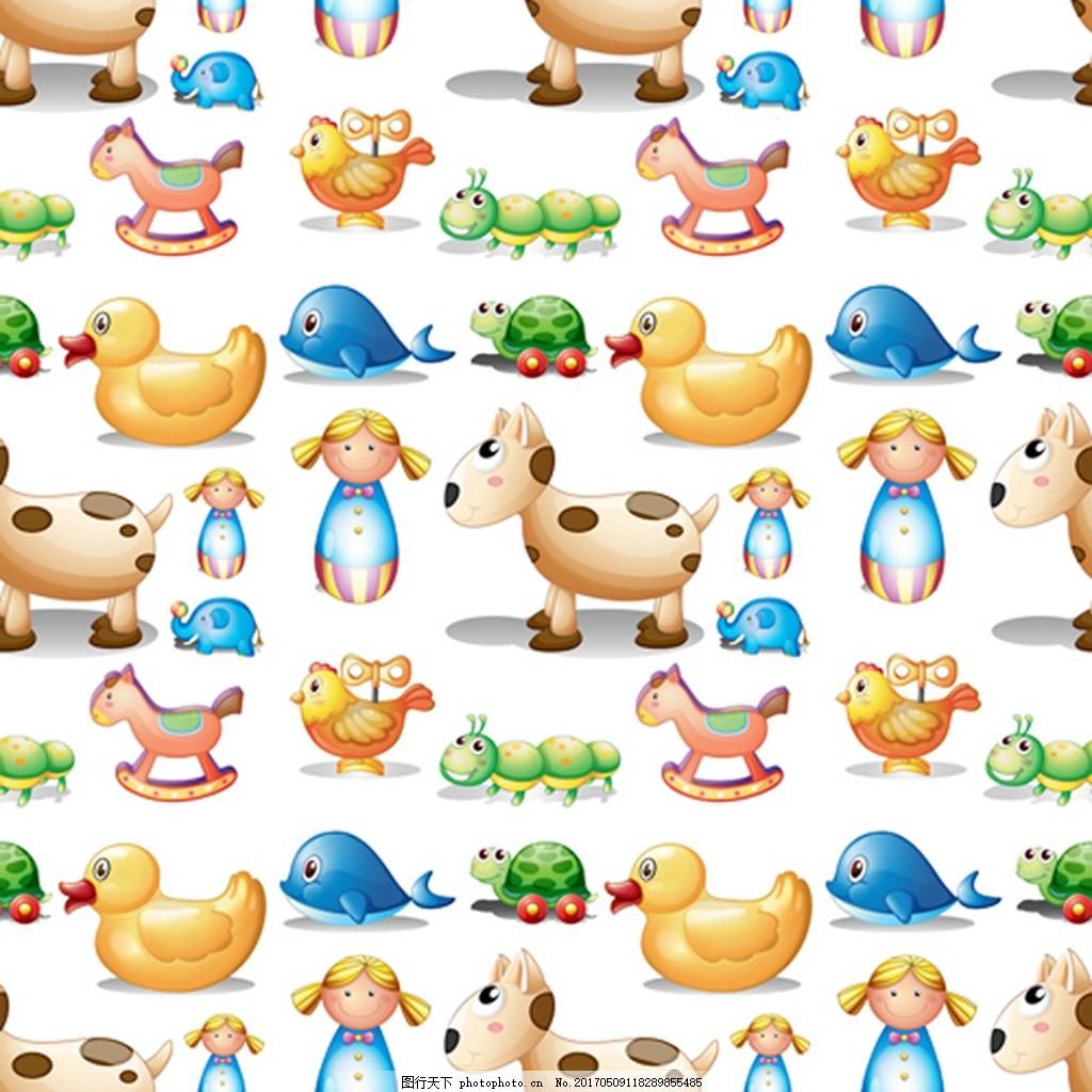 背景 背景素材 设计 eps 素材免费下载 可爱 动物 元素 矢量 鸭子