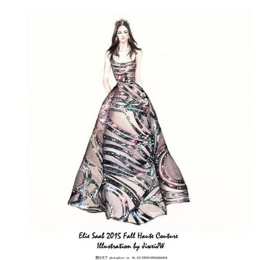 时尚长裙礼服设计图