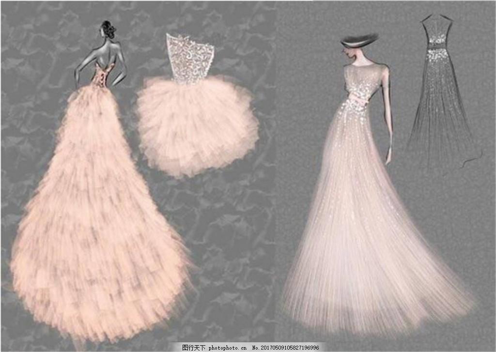 多款唯美礼服设计图 时尚女装 职业女装 女装设计效果图 短裙 服装