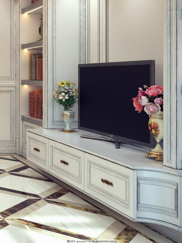 时尚客厅电视柜设计图