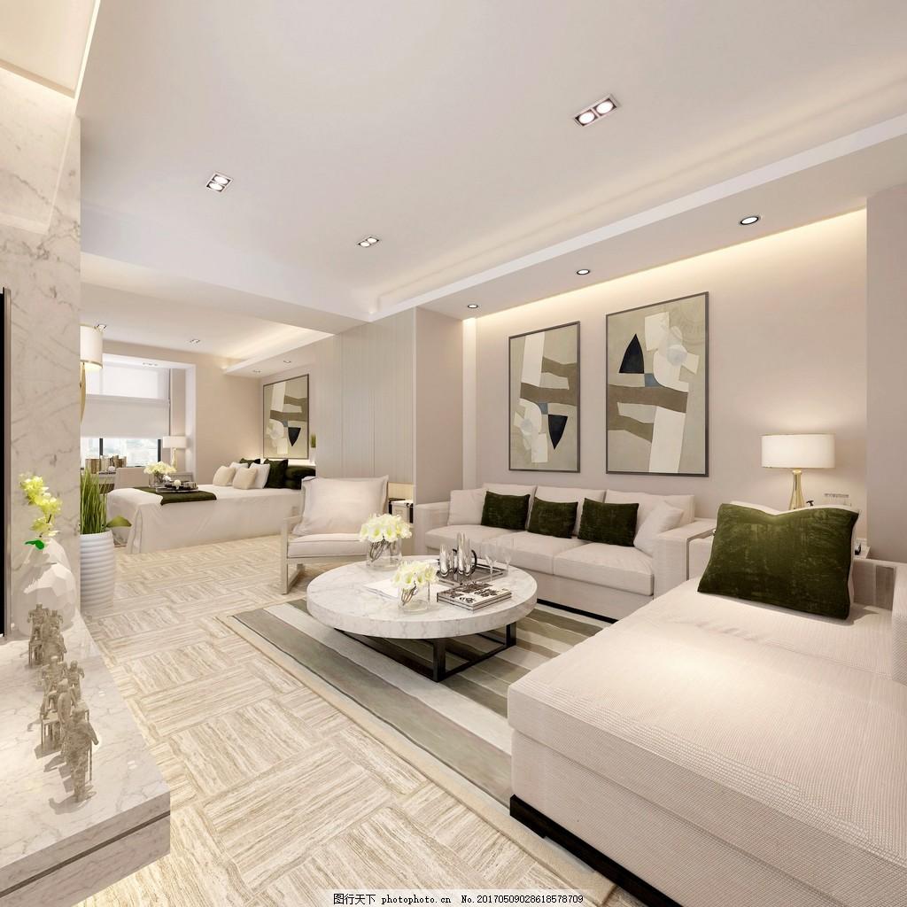 现代家居客厅简装效果图