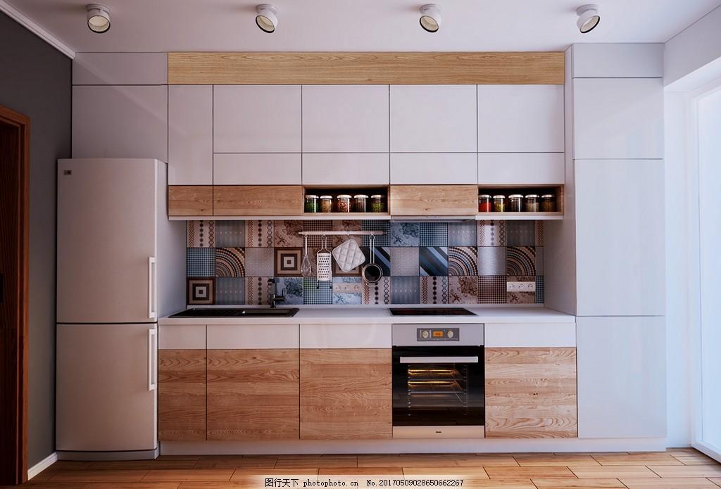 欧式现代厨房装修效果图 室内设计 家装效果图 现代装修效果图 时尚