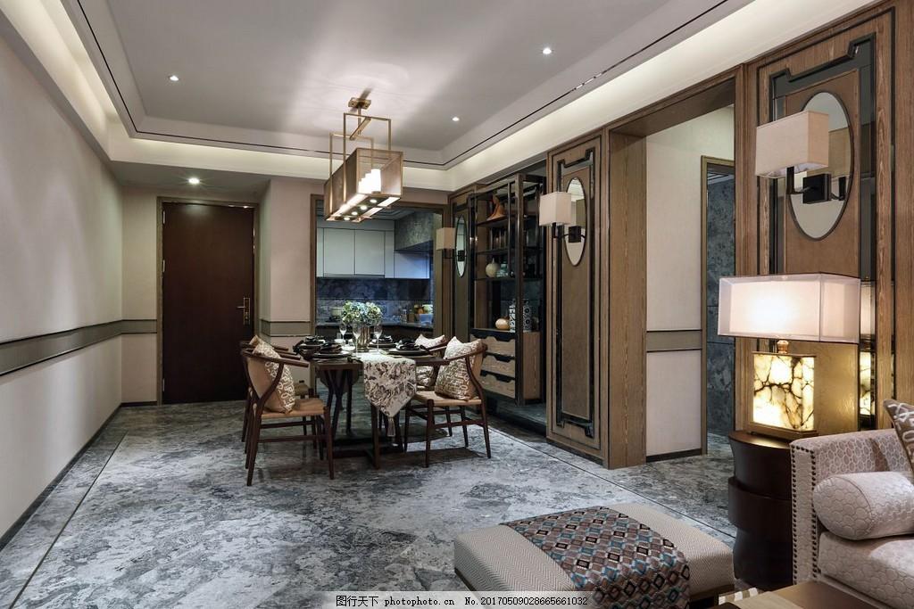 大理石瓷砖餐厅装修效果图