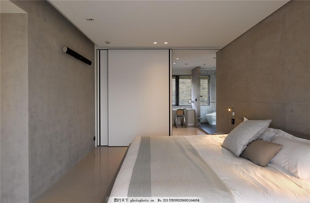 现代中式卧室简装效果图