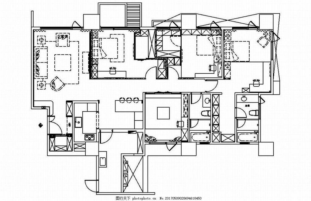 欧式室内装修手稿图 家居 家居生活 室内设计 家具 装修设计 效果图图片