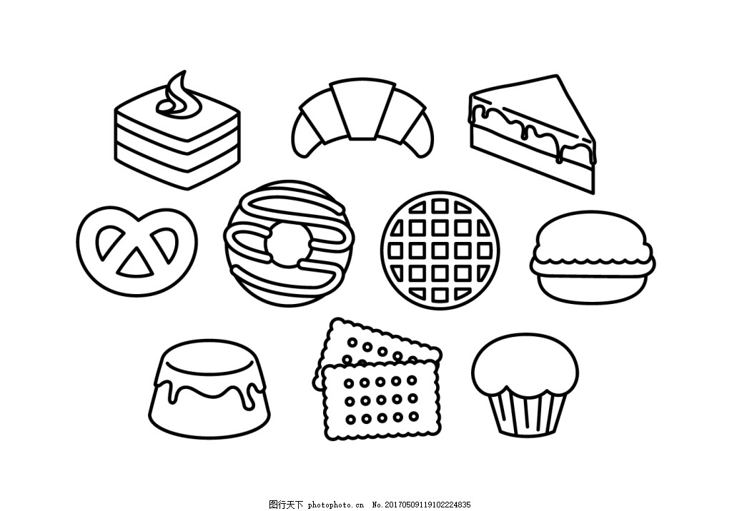 卡通甜点怎么画