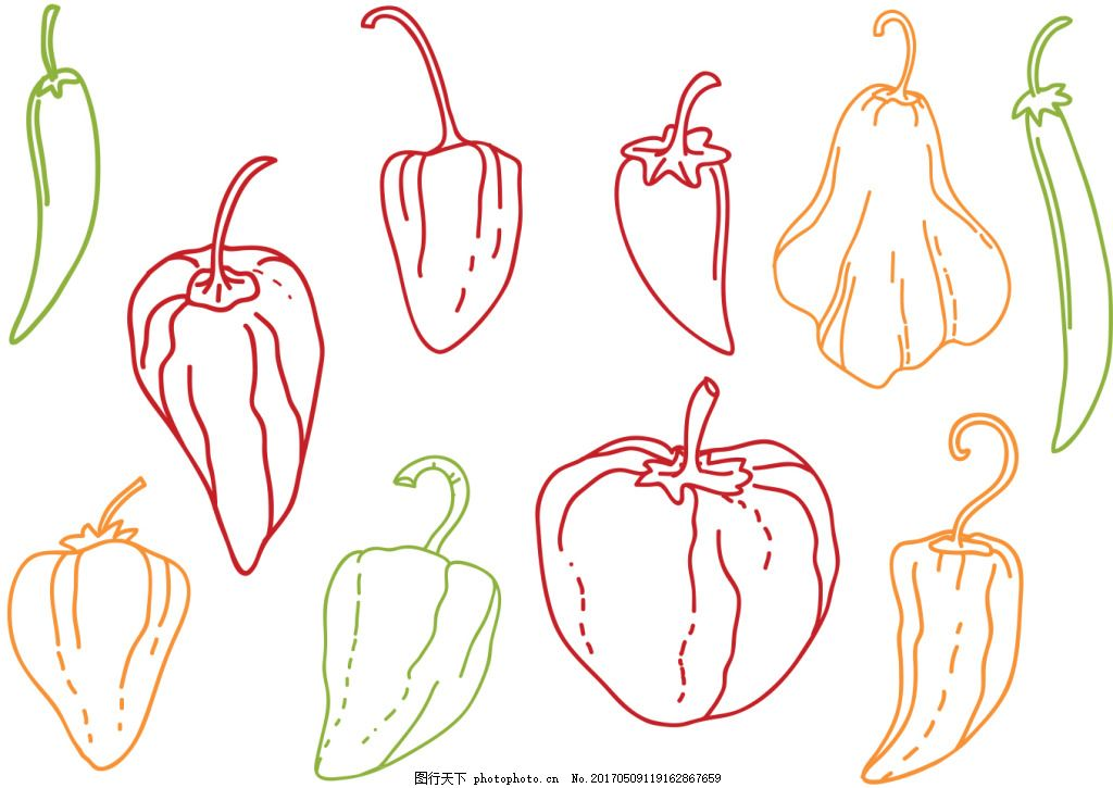 蔬菜素材 矢量蔬菜 蔬菜 手绘蔬菜 矢量素材 蔬菜图标 手绘蔬果 蔬果