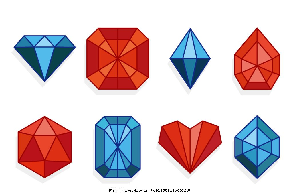 手绘钻石宝石