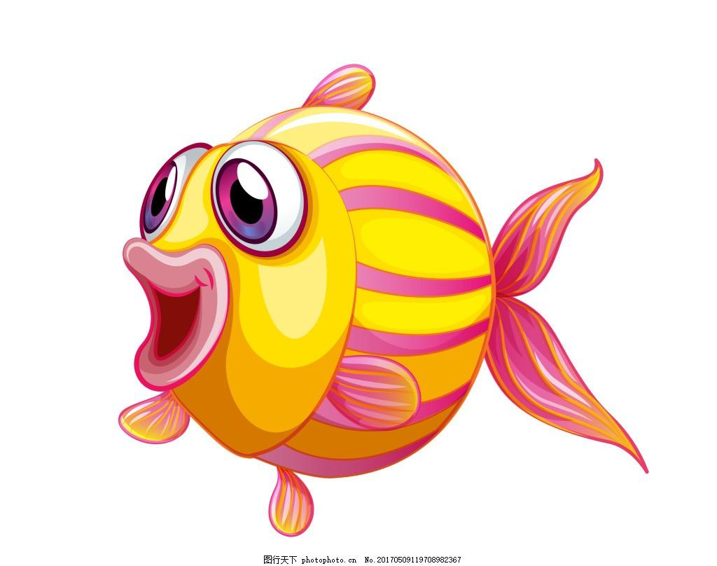 卡通动物鱼类eps