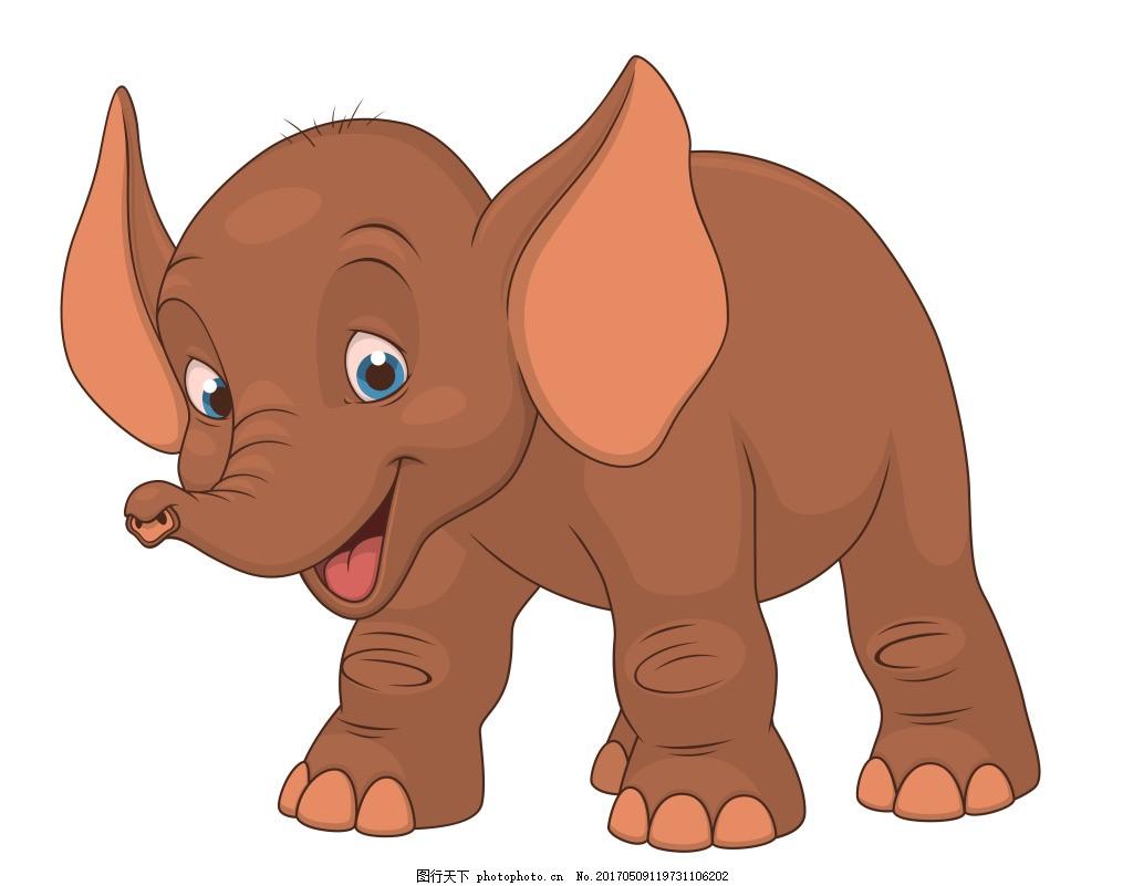 矢量可爱大象eps,矢量素材 野生动物 卡通矢量