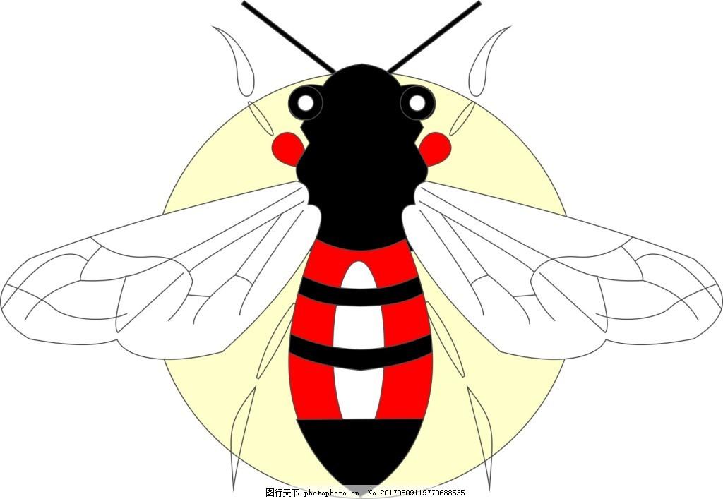 蜜蜂 大牌图案 矢量文件 刺绣图案 爆款 流行