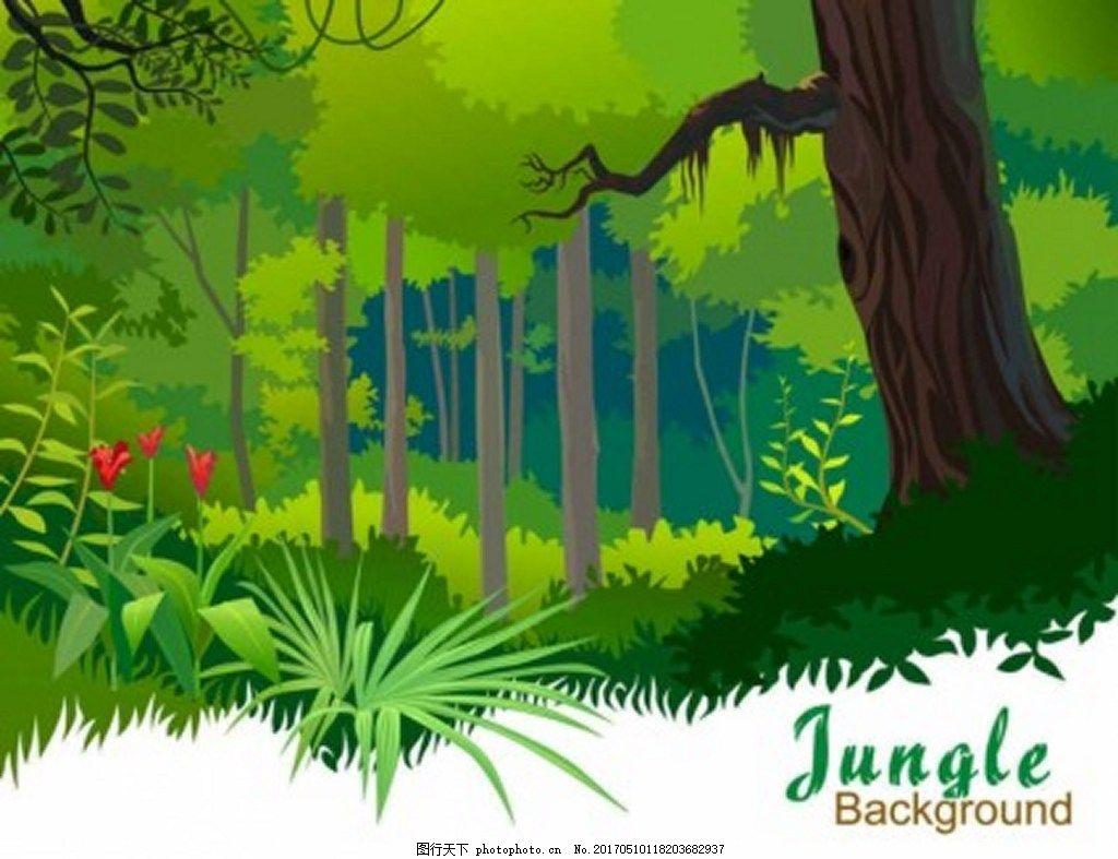 绿色森林背景图 广告 背景素材 素材免费下载 大树 植物 大自然