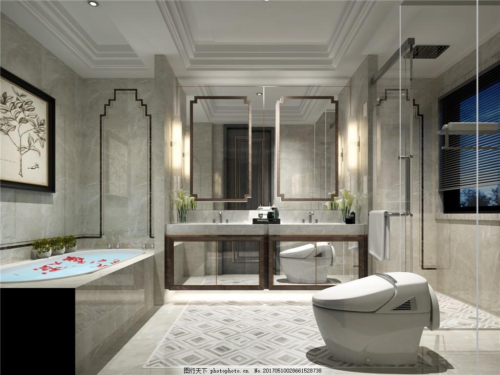 欧式卫生间背景墙设计图 家居 家居生活 室内设计 装修 家具 装修设计