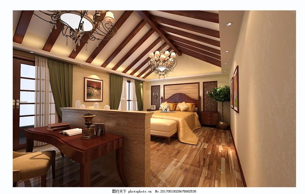 时尚卧室吊顶设计图 家居 家居生活 室内设计 装修 家具 装修设计