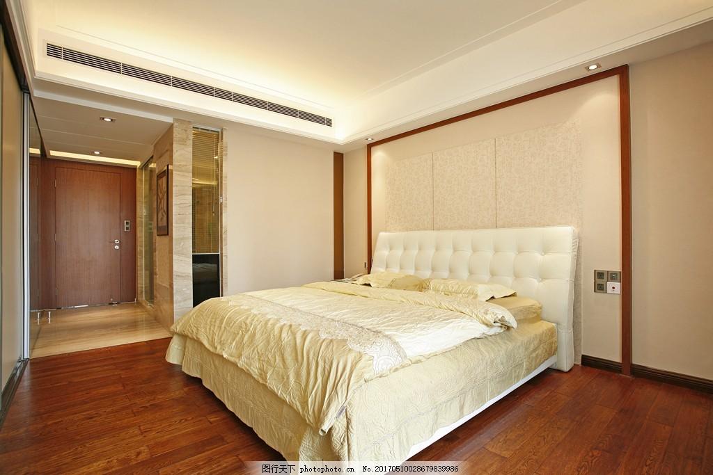 简约欧式卧室装修效果图 房屋装修设计效果图图片 室内装修 设计素材