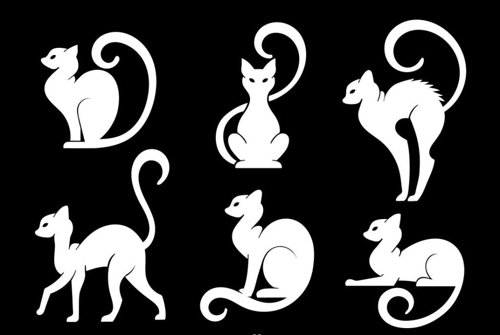 扁平手绘猫咪 手绘猫咪 猫咪 可爱猫咪 动物 手绘动物 矢量素材 动物