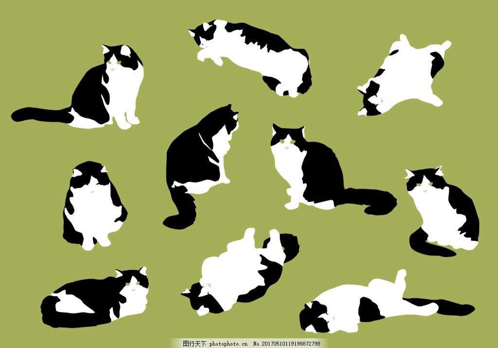 手绘可爱猫咪