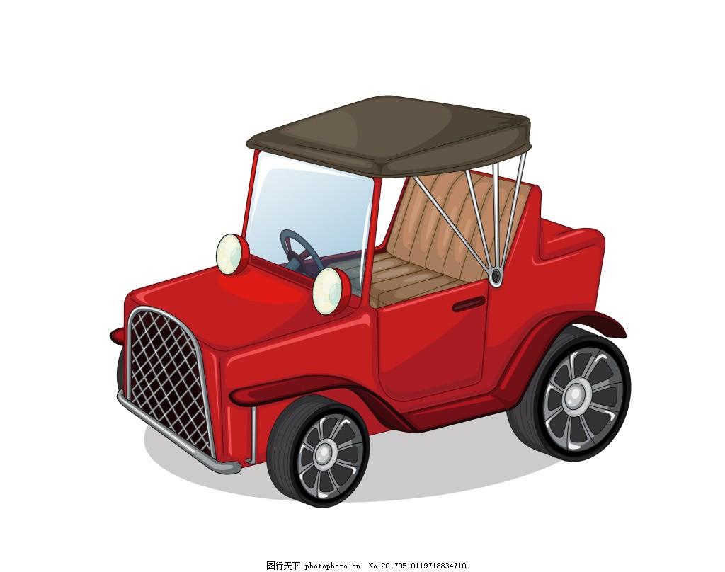 时尚手绘卡通汽车大全 矢量汽车 卡通汽车 手绘汽车 小汽车图片 家用