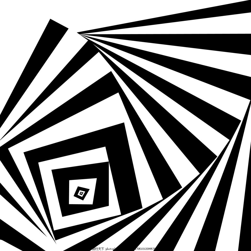 黑白立体元素 翻转 装饰 矢量 线条