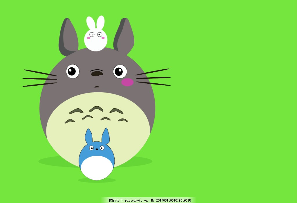 龙猫卡通动物 动漫 二次元