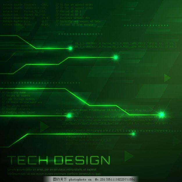 几何 绿色 线条 墙纸 技术背景 几何背景 点 抽象线 现代 装饰 电路