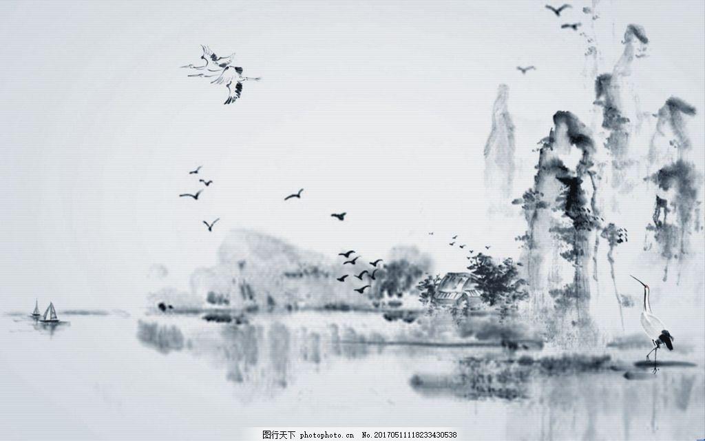 中国风水墨山水风景画