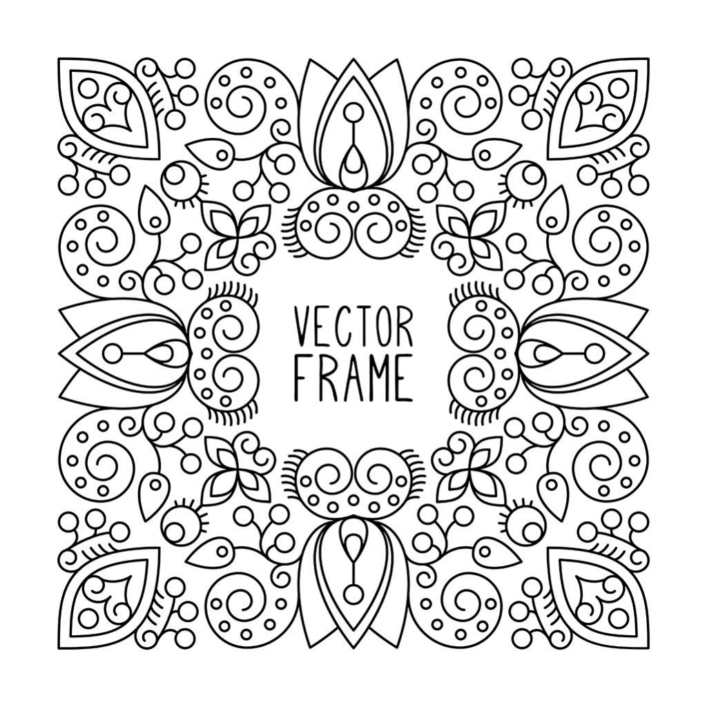 手绘花纹装饰图案