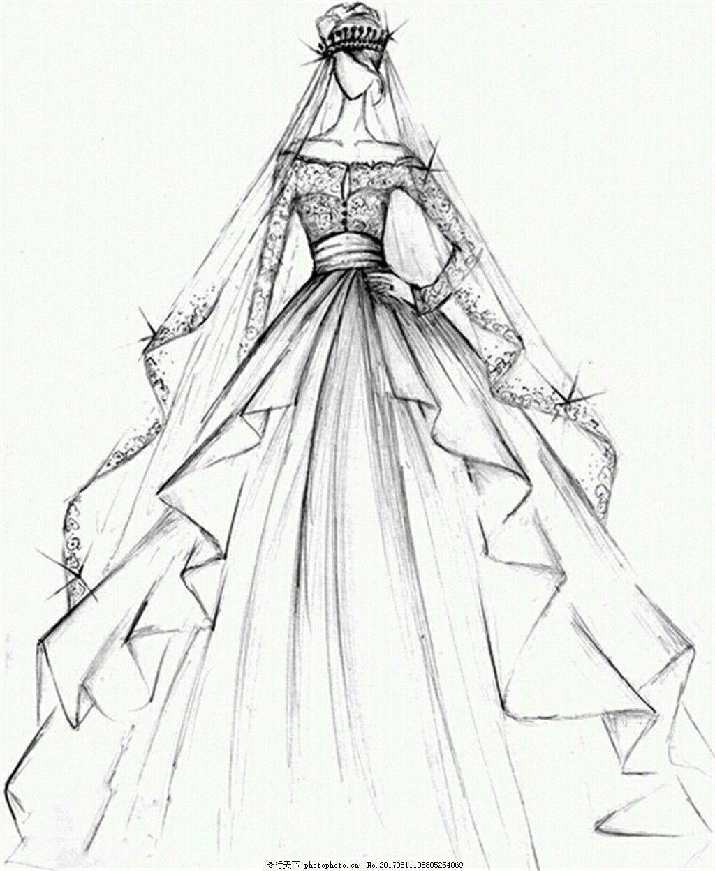 时尚婚纱设计图 时尚女装 职业女装 女装设计效果图 短裙 服装图片