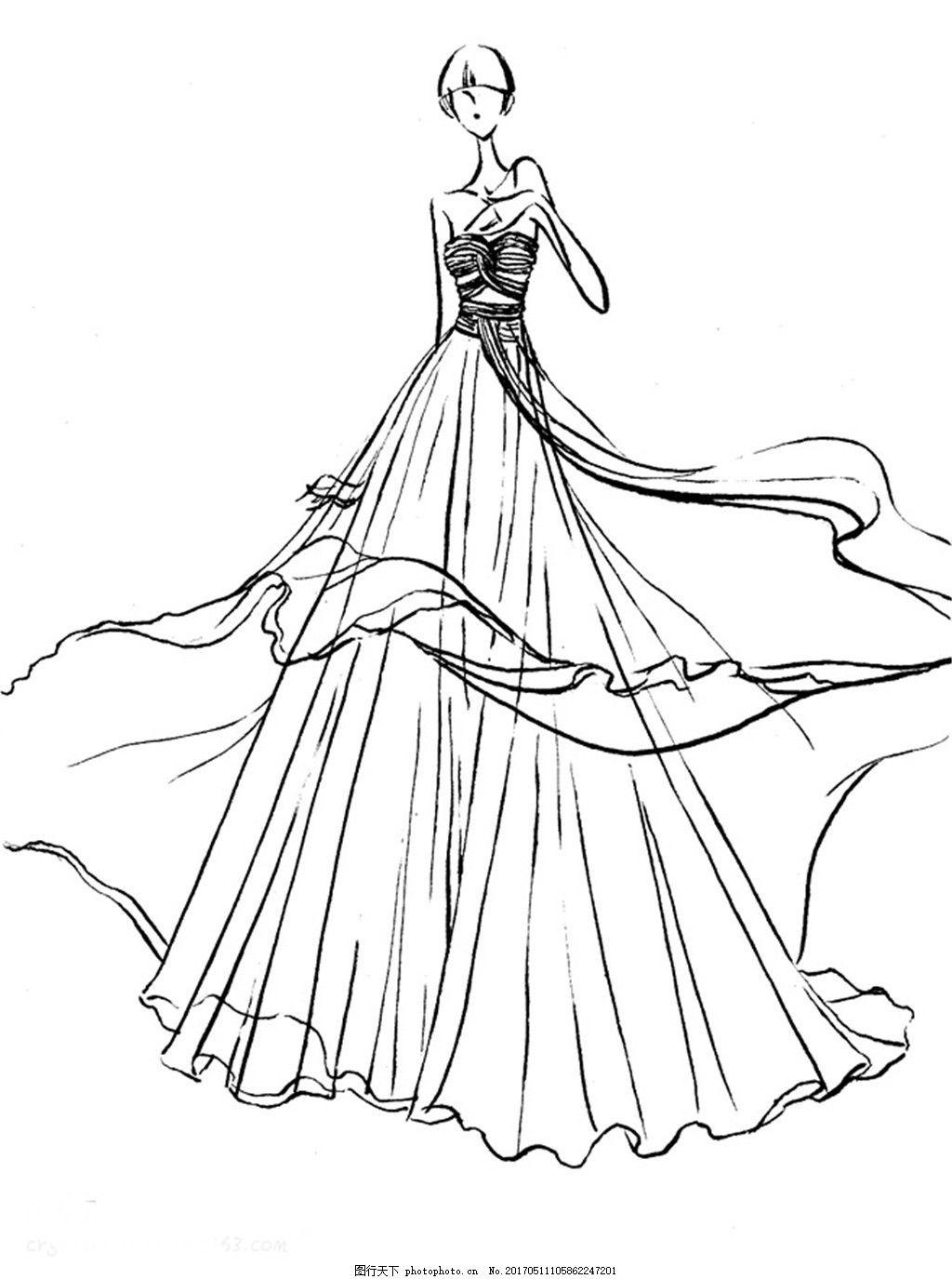休闲婚纱设计图 时尚女装 职业女装 女装设计效果图 短裙 服装图片