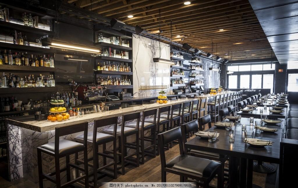 复古酒吧 酒吧 餐厅 吧台 水果 洋酒 奢华 室内设计 装修 复古 摄影